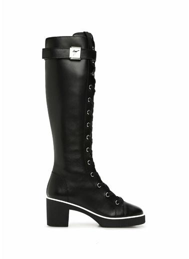Giuseppe Zanotti Giuseppe Zanotti  Logo Kemerli Kadın Deri Çizme 101538928 Siyah